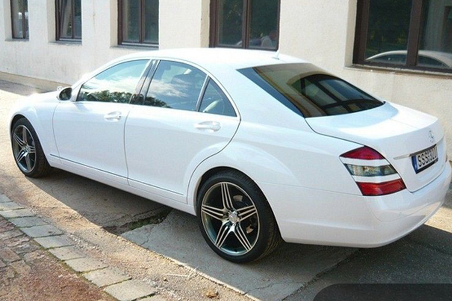Mercedes S fehér